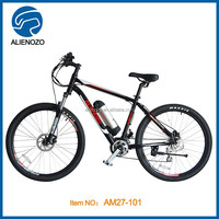 27 inch Foldable 9 Spd Sport electric mountain bicycle/ mid motor E bike