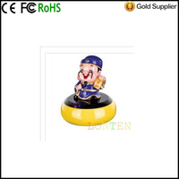Mini Cartoon Painted Pottery Figurine Resonance Vibration Speaker High Power Mini Speaker