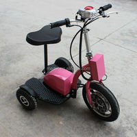 Standing up electric tricycle with 500w brushless hub motor