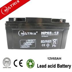 China deep cycle sealed storage battery 12v 65ah