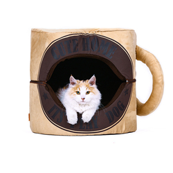On Winter Day Detachable The Cup Shape Cat Beds Wholesale