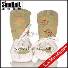 Bowknot Infant Blinking Baby Sock Decoration