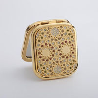 craft metal square compact mirror