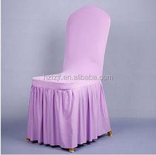 Fashionable design cheap violet chiffon ruffled wedding chair covers
