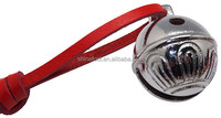 Sleigh bell in solid brass or silver polish with real leather attached as christmas gift for kids
