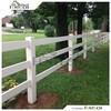 High Quality Fentech High Strength Plastic Cheap Farm Fence, 3 Rail Fence