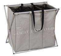 Home value triple compartment dark/light/color laundry hamper