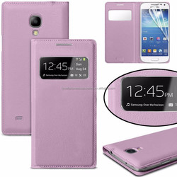 Pink Window Wallet Mobile phone Leather Case Factory For Samsung Galaxy S4MINI i9190