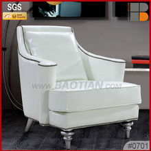 modern design Italian genuine leather single seat sofa chair