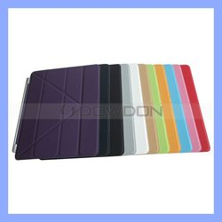 Transformer Style Magnetic Leather Case Cover for The New iPad, Stand Case for iPad 3
