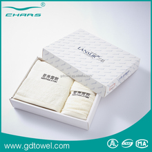 Promotional cotton towel custom embroidered brand name designs gift towel
