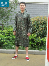 OEM factory 100% polyester or oxford raincoat army rain poncho military outdoor workplace bicycle motorcycle raincoat