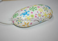 colorful flower rainbow optical mouse