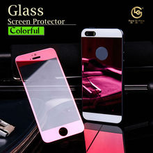Wholesale cell phone accessory color tempered glass screen protector