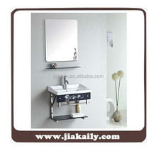 Colorful Glass Stainless Steel Bathroom Wall Cabinet Furniture