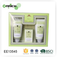 green tea skin care set with bath and beauty soap and nature lotion