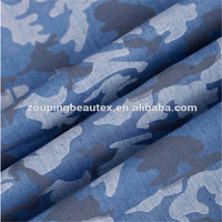 denim fabric of printing fabric with flower and China factory direct sale for fashion style jeans