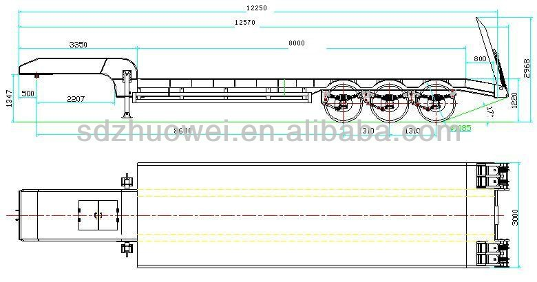 Dimension Standard Semi Trailer Bed : Dimensions of low bed trailer roole