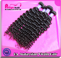 High quality 12 inch 100% human unprocessed original deep curly virgin malaysian hair bundles