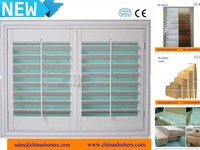 (CE)Factory cheap pvc louvered shutters with durable quality