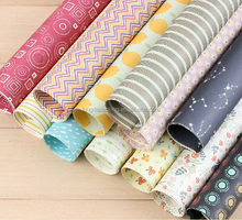 Boutique Classic Colors Pattern Gift Flat Wrapping Paper
