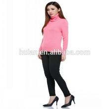 Hot vente femmes haute pull col