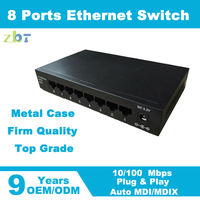 Ethernet L2 SNMP managed 8 port 10/100TX Network switch