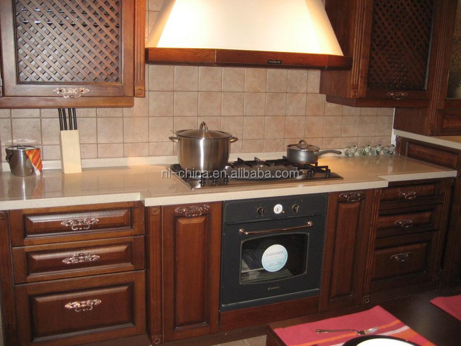 massief houten keuken kast traditionele amerikaanse landelijke ...
