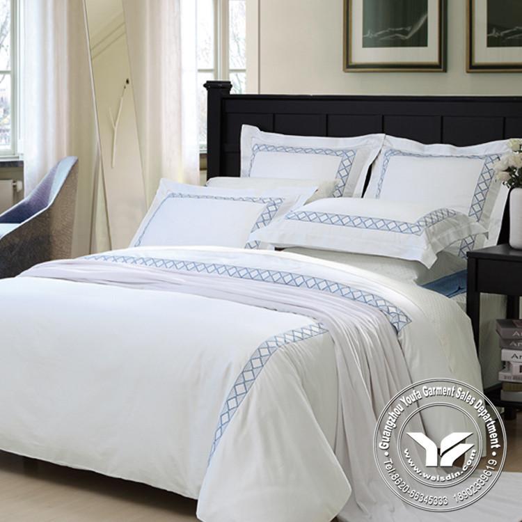 우아한 고급 현대적인 킹 사이즈 이불 이불 면 흰색 호텔 침대 ...