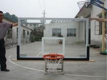 Outdoor Height Basketball Pole and glass backboard