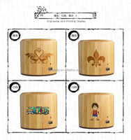 2015 christmas new hot items eco genuine bamboo wooden portable mini music bluetooth speaker