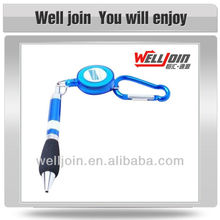 Carabiner Ballpoint Pen with a Cord Reel