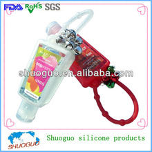 1floz/29ml/30ml cute/beautiful silicone hand sanitizer holders with cute small bell