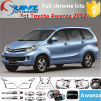 Toyota Avanza 2012- ABS plastic chrome kits with mirror cover accessory full protection cars exterior accessories for sale