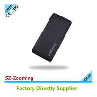 wholesale cellphone charger 8000mah dual usb output portable power bank with cable external battery charger for USA market.