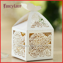 Laser Cutting Flower Gift Candy Box Customized for Wedding Party Decoration