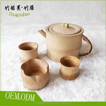 Custom Chinese style natural bamboo tea set
