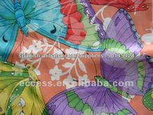 cortina de tela de seda impresa
