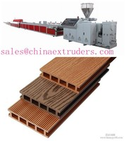 WPC decking floor machine production line wood plastic composite machine