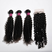 Brazilian hair bundle with closure free shipping accept paypal