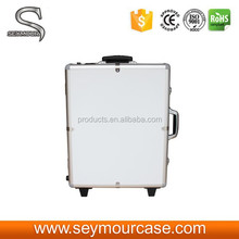 White Beautiful Makeup Station Lights Rolling Case