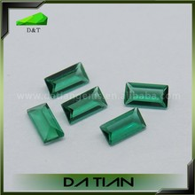 Wholesale Stnthetic Gems Green Ring From Russia Hydrothermal Emerald Buyers