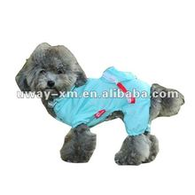 UW-PRC-007 Fashionable waterproof pvc blue pet apparel dog raincoat with satchel