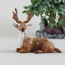 Popular top sell christmas wooden deer decoration