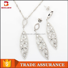 fashion elegant silver jewelry set import made in china