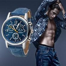 2015 Leather Strap Men Sports Military vogue watch