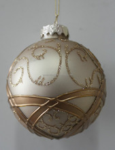 Christmas gift glass ornament - with painting line