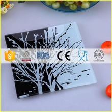 Low price unique ceramic oval glass plates restaurant and hotel