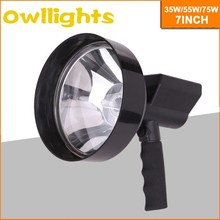 Portable Rechargeable ABS plastic spot beam hid hunting light move outside 35w/55w/75w/HID rechargeable handlight