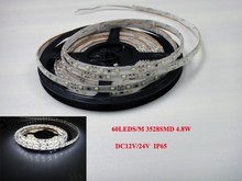 60 high brightness SMD LED waterproof 3528 led strip and economical